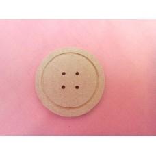 4mm MDF Button 50mm